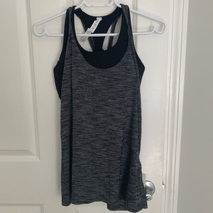 Lululemon workout tank with sports bra